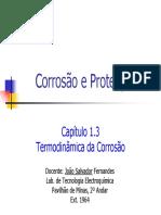 Capitulo 1C Corrosão e Protecção