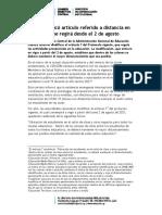 COMUNICADO N° 056-021 MODIFICACIÓN PROTOCOLO