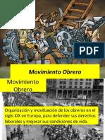 3. Movimiento Obrero
