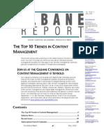 Top Ten Trends in Content Management