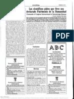 1995-09-08 - Los científicos piden que Orce sea declarado Patrimonio de la Humanidad