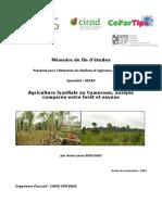 Agriculture familiale au CMR