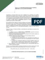 Comunicado Oficial Facultad 7 de Julio 2021