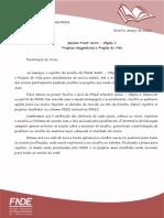 10.2021  - Comeou a Escolha do PNLD 2021 - Objeto 1 -Projetos Integradores e Projeto de Vida