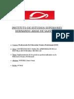 Implementación de Las Prácticas Profesionalizantes en La Educación Técnico