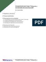 Procedimientos de Carga-Transporte-Descarga y Manipulacion.