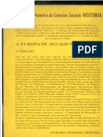 A Europa de 1825 aos nossos dias - Jean Baptiste Duroselle