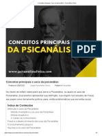 Conceitos principais e usos da psicanálise - Psicanálise Clínica - Copia