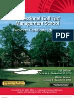 Rutgers Golf Turf Management School Certificate Program Catalog 2011 2012