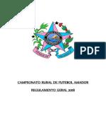 CAMPEONATO RURAL DE FUTEBOL AMADOR REGULAMENTO - Publicado