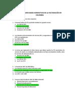 CUESTIONARIO BASES NORMATIVAS DE LA FACTURACIÓN EN COLOMBIA