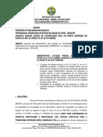 Proc. 0056.000994.00278-2020-48 - convalidação - contratação direta - art. 24 VII
