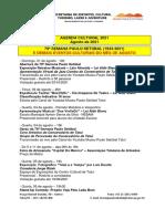 Semana Paulo Setúbal e Atividades Culturais_Programação Do Aniversário de Tatuí e Inaugurações e Eventos_30_07