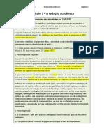 Manual Do Professor - Capítulo 7 a Redação Acadêmica (1)