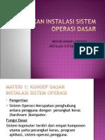 menjelaskan langkah instalasi sistem operasi