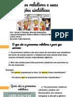 6. Pronomes relativos e suas funções sintáticas