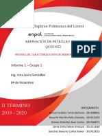 Informe refinacion_Grupo 1 - PRACTICA