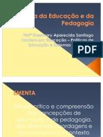 História da Educação e da Pedagogia - Plano de Ensino