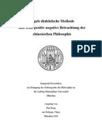 Hegels Dialektische Methode Und Seine Positiv-negative Betrachtung Der Chinesischen Philosophie