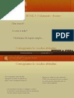 Pillole di... HTML5 - l'elemento footer