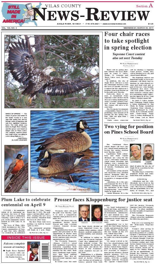 Vilas County News-Review, March 30, 2011 | Medicare Part D ...