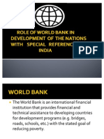 The Role of world bank in india