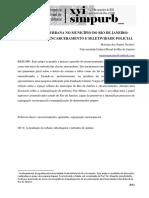 SEGREGAÇÃO URBANA NO MUNICÍPIO DO RIO DE JANEIRO