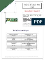 notice ACOMAX CARTE MODEM PCI 56K