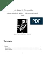Veracini - Selected Sonatas For Flute Or Violin
