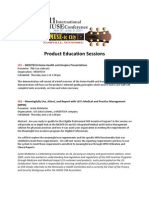Product Education Sessions