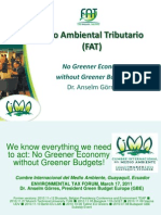 FAT - No Greener Economy Without Greener Budgets