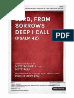 At 2014 Lord From Sorrows Deep I Call