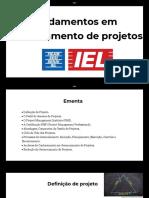 Fundamentos em Gerenciamento de Projetos