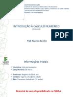 Mat 1 CNM - Prof. Rogério Da Silva V2