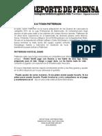 NOTA DE PRENSA TYSON PATTERSON