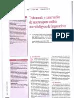 2005 - Tratamiento y conservación de muestras para análisis microbiológicos de fangos activos (tec)