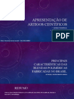 Apresentação de artigos científicos