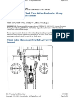 check valve maintenance