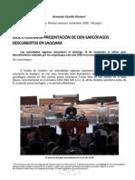 02. Descubrimientos Arqueologicos en El 2020-Enero-2021