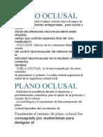 PLANO OCLUSAL