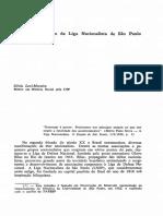 Ideologia a atuação da Liga Nacionalista de São Paulo