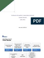 Instituto Delphos - Evaluación de gestión y expectativa electoral