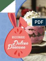 RECETARIO. Dulces Pascuas