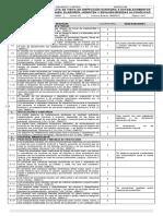 Lista de Chequeo, Resolucion 1686 de 2012