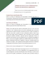 Aspectos intervenientes da Lei de Acesso à Informação no processo de gestão documental nas orgqanizações
