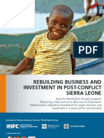 Rebuilding Business and Investment in Post-Conflict Sierra Leone