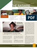 RasWire Newsletter Spring 2011