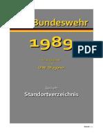Bundeswehr 1989_ Beiheft (Standortverzeichnis)