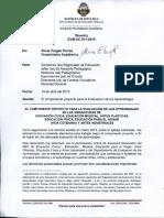 El componente proyecto para la Evaluación de los Aprendizajes 2015 DIR-DVM-AC-011-2015-PROYECTO