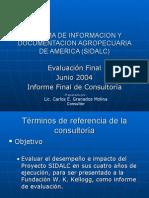 informe sidalc 2004